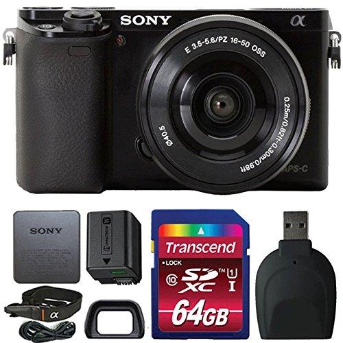 Sony Alpha A6000 Wi-Fi Digital Camera Black with Accessories