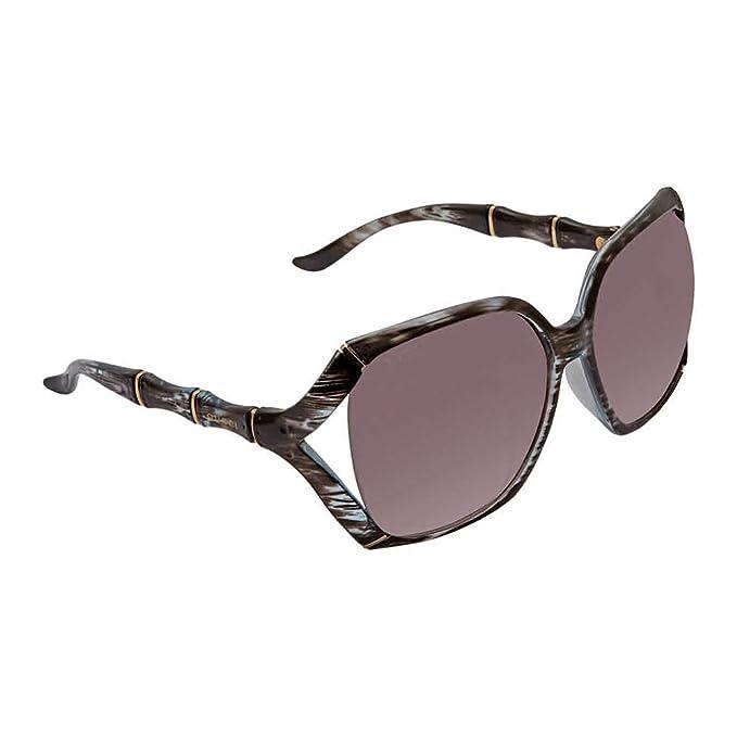 Amazon.com: GUCCI GG0505S - Gafas de sol de bambú, color ...