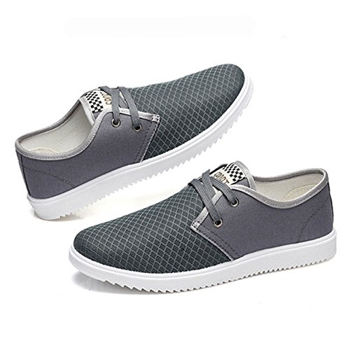 Men's Light Summer Breathable Casual Grey Shoes weight Lace Shoe Mesh WYBaP