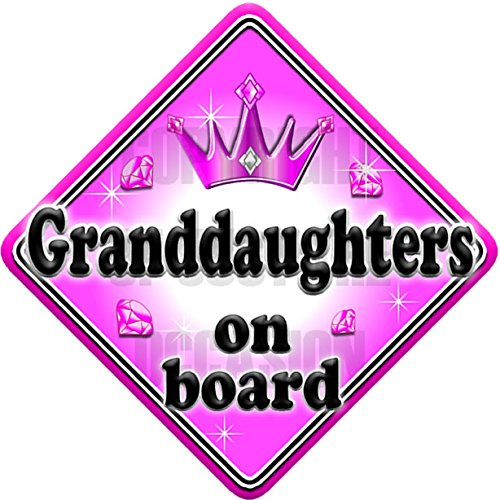 GEM JEWEL GRANDDAUGHTERS non personalised novelty baby on board car sign Just The Occasion