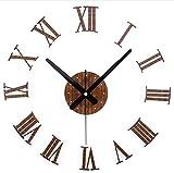 SHIQUNC Trois - Dimensions DIY Pendules murale Romaine Numéro Horloge murale