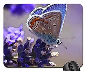 Purple Butterfly Mouse Pad, Mousepad (Butterflies Mouse Pad, Watercolor style)