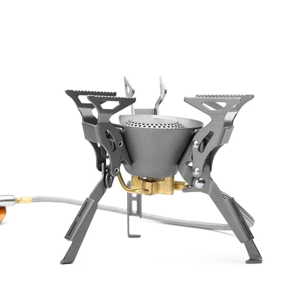 JIBO Draussen Gasherd Titangas Brenner Ultraleicht Faltbar Teilt Camping-Ausrüstung Gasherd