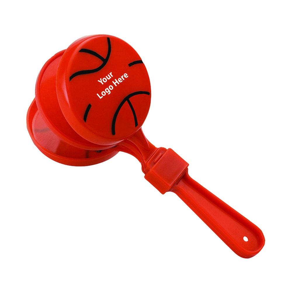 Basketball Clapper - 250 Quantity - $1.60 Each - PROMOTIONAL PRODUCT / BULK / BRANDED with YOUR LOGO / CUSTOMIZED
