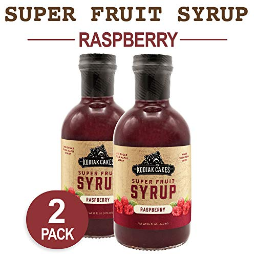 Kodiak Cakes Super Fruit Syrup, Raspberry, 16 Ounce (Pack of 2)