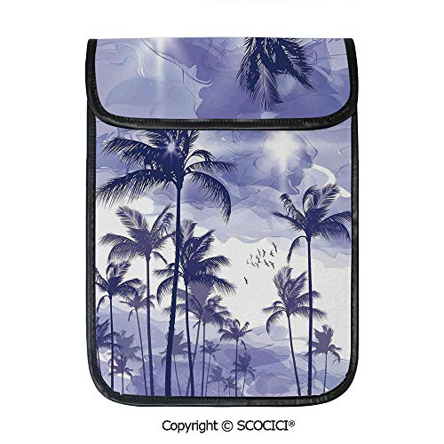 SCOCICI Simple Protective Exotic Tropical Tall Palm Trees at Beverly Hills Sunset On Windy Day Abstract Artsy Print Decorative Pouch Bag Sleeve Case Cover for 12.9 inches Tablets