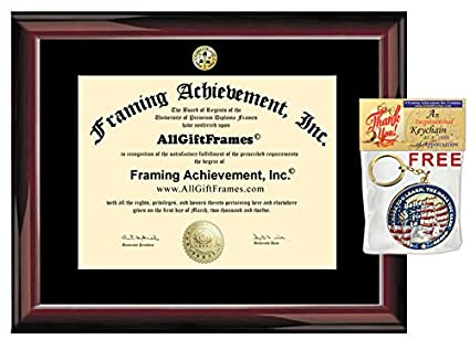 Amazon.com - Certificate Frame - Premium Glossy Traditional Mahogany ...