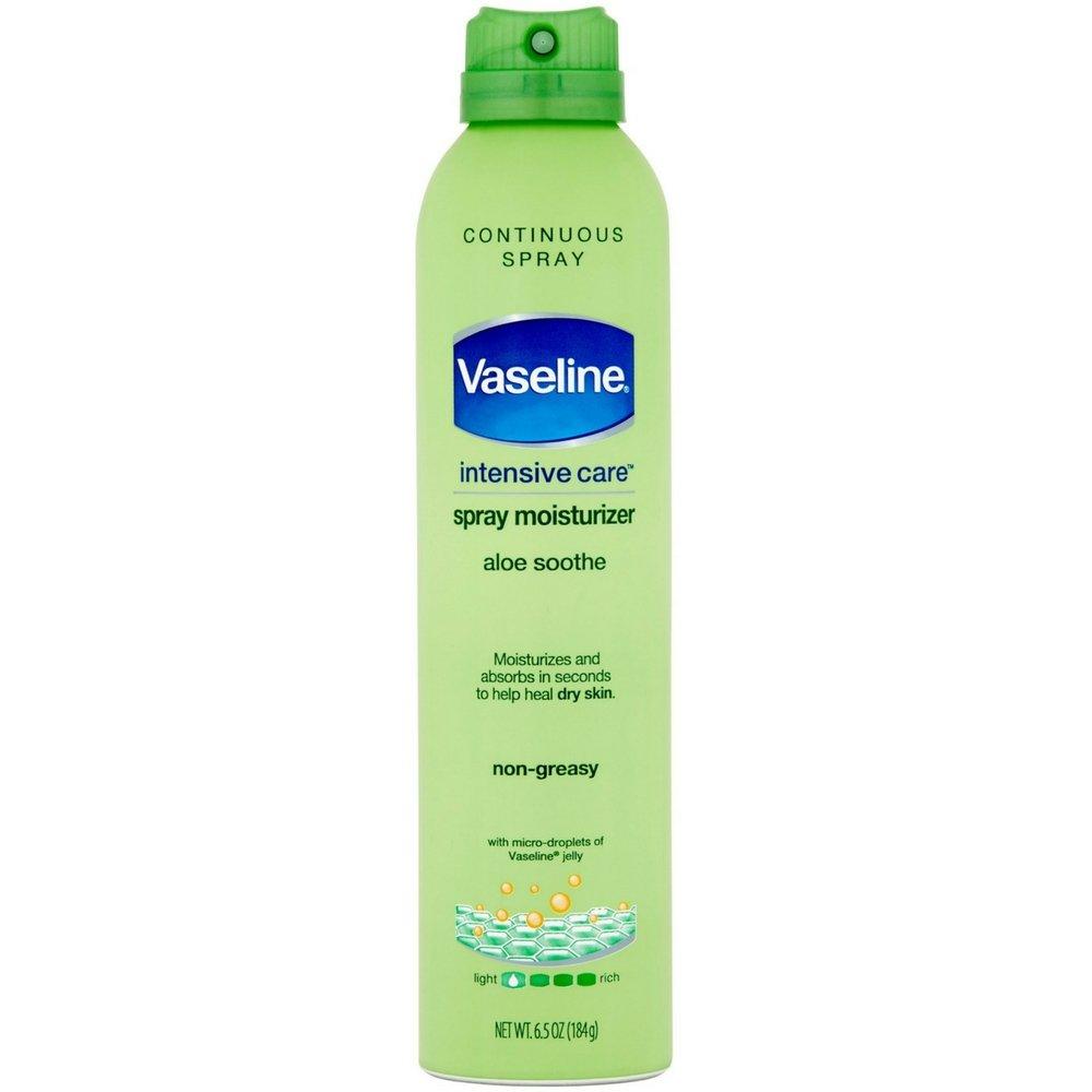 Vaseline Intensive Care Spray and Go Aloe Spray, 6.5 oz. -- 6 per case.