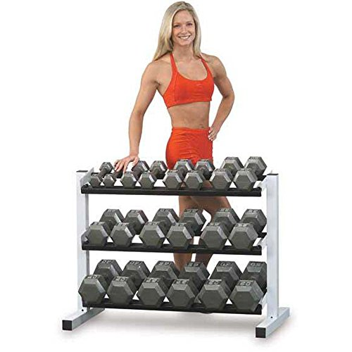 Body-Solid SDS900 80-100-Pound Grey Hex Dumbbell Set