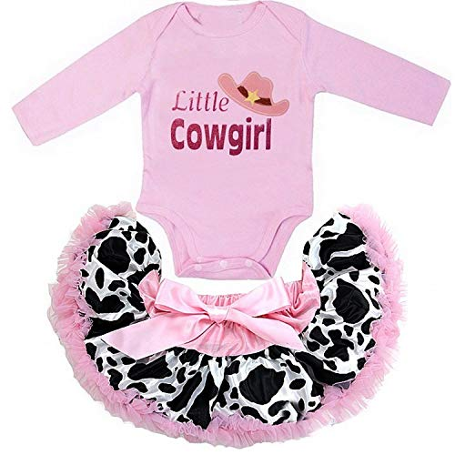 Kirei Sui Little Cowgirl Long Sleeve Bodysuit & Tutu XS Pink -