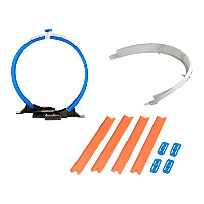 Hot Wheels Workshop Track Builder Loop, Curve, Straight Track Starter Kit (3 Pack): Toys & Games