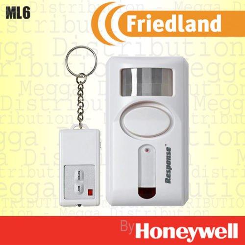 Friedland PIR Sensor de movimiento detección de seguridad 90 db sirena alarma inalámbrica con mando a distancia - con alarma/timbre/modo de pánico: ...