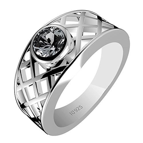Genuine Round Aquamarine Solitaire Ring - 4