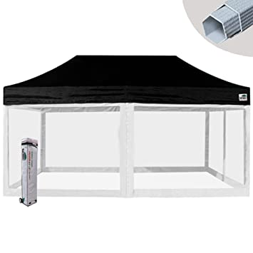 Eurmax Premium 10x20 Ez Pop up Tent Screen Room Commercial Canopy Portable Gazebo with 4 Removable  sc 1 st  Amazon.com : 10x20 pop up tent - memphite.com