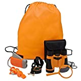 Adventure Kids - Outdoor Exploration Kit, Children's Toy Binoculars, Flashlight, Compass, Whistle, Magnifying Glass, Backpack. Great Kids Gift Set for Camping, Hiking, Educational and Pretend Play.