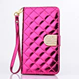 Samsung Galaxy Note 4 Case, SsHhUu Premium Bling Glitter PU Leather bling Diamond clasp Wallet Handbag Stand Flip Protective Cover Case for Samsung Galaxy Note 4 Duos N9100 N910 N910F (5.7 inch) Rose