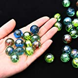 Fworld 20 Pieces Cats Eyes Glass Marble / Sling