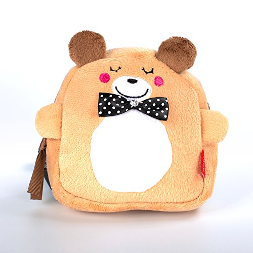 RLONGVI Cartoon dog self backpack Cute multifunction pet traction travel walk (Bear, Large size) by RLONGVI