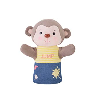 blancho cute hand puppets monkey puppet fancy toy for kids amazon