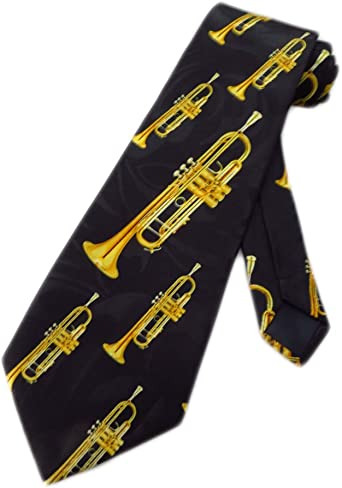 woodwind musical instrument Band Jazz concert Clarinet men neck tie NEW!!