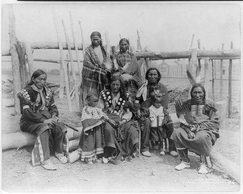 Photo: Family of Sioux from the Indian Village,c1904,Louisiana Purchase Exposition Co