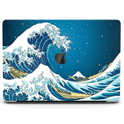 Wonder Wild Case For MacBook Air 13 inch Pro 15 2019 2018 Retina 12 11 Apple Hard Mac Protective Cover Touch Bar 2017 2016 2015 Plastic Laptop Print Great Wave off Kanagawa Katsushika Hokusai Blue Art