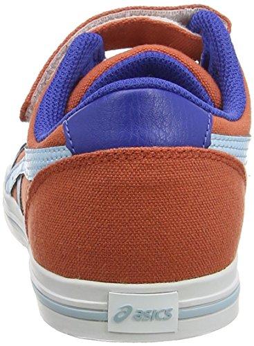 ASICS Aaron Ps Zapatillas Bajas, Niños Rojo (Chili/Crystal Blue 2440)