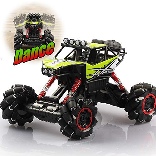 DAZHONG Remote Control Drift Car Music Jitter Dancing 1/12 Scale Off-Road RC Monster Truck Overall Direction Drift One-Button Body Rise and Fall All Terrain Climbing Car (Green)