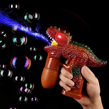 Fun Central (AU022) LED Dinosaur Bubble Gun - Brown