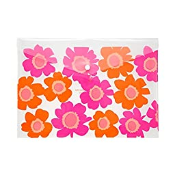 COMIX A1830 Summer Flower Patented Design Premium Quality Poly Envelope with Snap Button Closure US Letter / A4 Size, Set of 12 in Blue