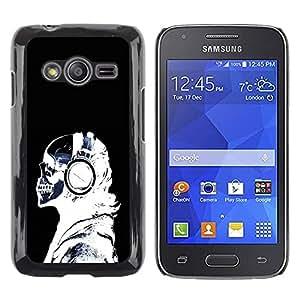 Be Good Phone Accessory // Dura Cáscara cubierta Protectora Caso Carcasa Funda de Protección para Samsung Galaxy Ace 4 G313 SM-G313F // X-Ray Skeleton Headphones