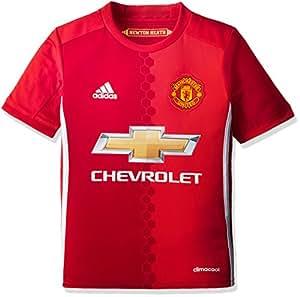 adidas H JSY Y Camiseta 1ª Equipación Manchester United 2015/16, Niños, Rojo/Blanco, 7-8 años
