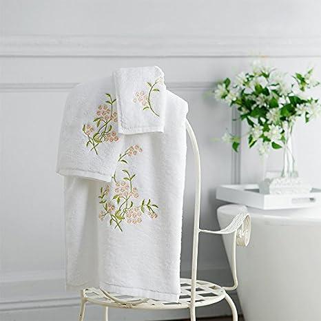 Bordados de algodón lavar la toalla de baño, toalla facial, bufanda cuadrada, hogar