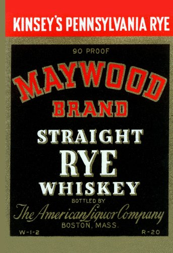 Straight Rye Whiskey - Maywood Brand Straight Rye Whiskey 32