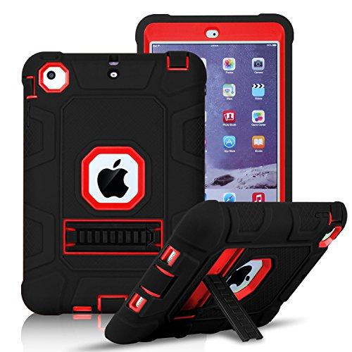 Shockproof Heavy Duty Armor Case for Apple iPad Air 2 (Black) - 2