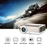 Multimedia Projector LED Video Home Theater 4200 Lumen Indoor Outdoor Movie TV Games WXGA 1280x800 Native Full HD 1080P with 2 HDMI VGA 2 USB AV TV Audio Out for Laptop iPhone iPad Android DVD PS4