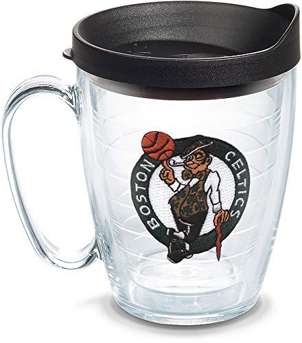 Tervis 1062436 NBA Boston Celtics Primary Logo Tumbler with Emblem and Black Lid 16oz Mug, Clear