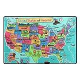 YZGO USA America Map - Kids Children Area Rugs Non-Slip Floor Mat Resting Area Doormats