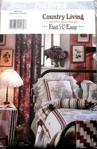 Butterick Sewing Pattern 3923 Duvet Cover, Pillow Covers, Tablecloth, Lampshade (Duvet Cover Sewing Patterns compare prices)