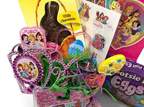 Disney Princess Easter Basket Pre Filled with Easter Candy, Easter Toys, Easter Basket Filler, and Easter Basket Grass | Great for Kids, Boys and Girls by Red Oak Collections (Image #1)