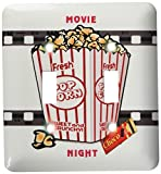 3dRose LLC lsp_109494_2 Movie Nigh with Choc Bar N Popcorn Double Toggle Switch