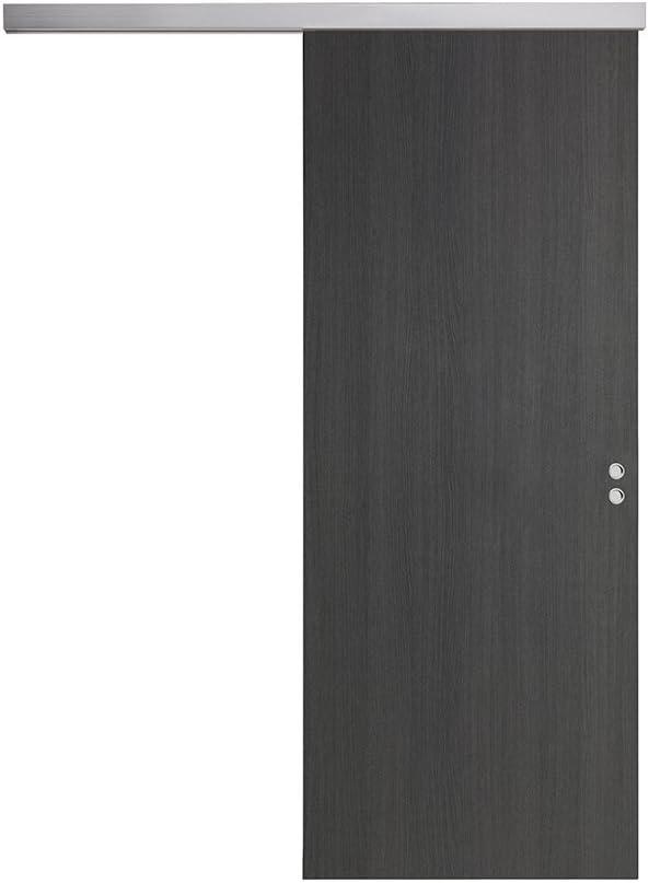 Puerta corredera exterior pared de madera varios tamaños BUSATTI Original gris: Amazon.es: Bricolaje y herramientas