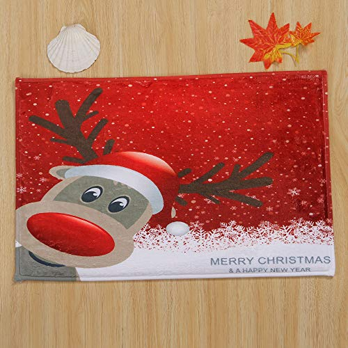 Home Decor,Pandaie Christmas Decorations Clearance Merry Christmas Welcome Doormats Indoor Home Carpets Decor 40x60CM