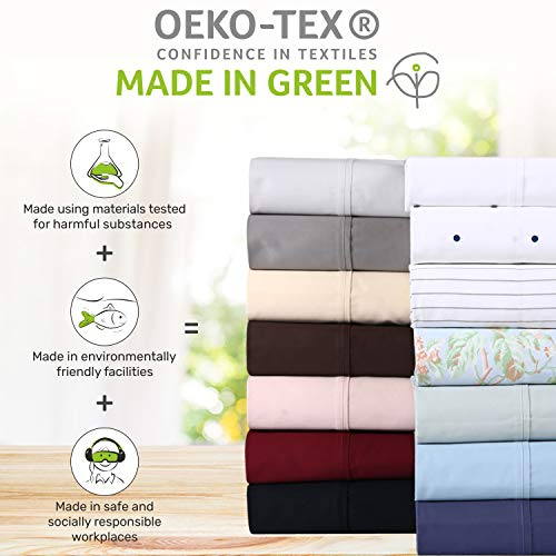 """Persian Collection 1900 Count Fitted Sheet 14/"""" Deep Pocket Fully Elastic Sheets"""