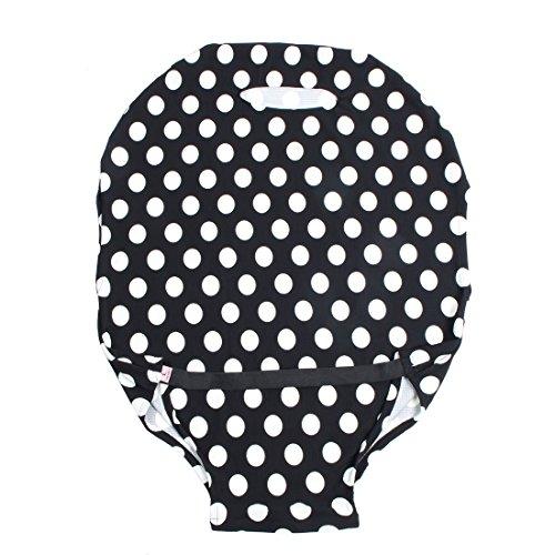 DealMux SAFEBET Autorisierte Polyester-Punkt-Muster-Reise-Gepäck Elastic Staubdichtes-Schutz-Abdeckung Tasche 26-28 Zoll Schwarz