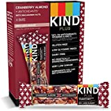 KIND Bars, Cranberry Almond + Antioxidants with Macadamia Nuts, Gluten Free, Low Sugar, 1.4oz, 48 Count