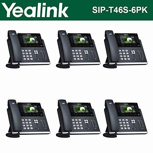 Yealink IPPhone SIP-T46S 6-Pack Optima HD USB Dongle PoE 16 VoIP accounts -
