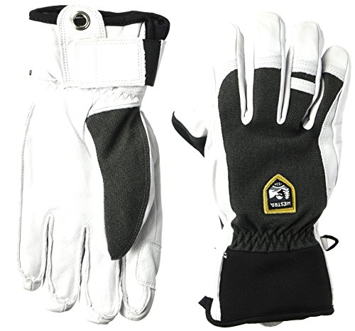 (Hestra Ski Gloves: Army Leather Patrol Winter Cold Weather Gloves, Charcoal, 8)