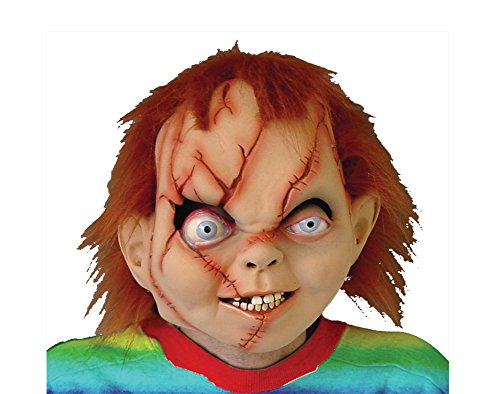 DISC0UNTST0RE Chucky Seed Of Latex Mask Halloween Costume - Most Adults]()