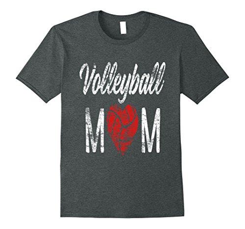 Mens Moms Volleyball Shirt - Volleyball Shirt For Moms - Heart 2XL Dark Heather (Shirt Volleyball Mom)
